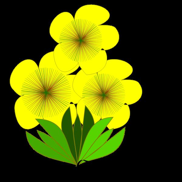 flor amarela e a lagarta