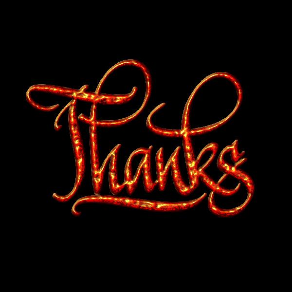 Thanks sign vector clip art