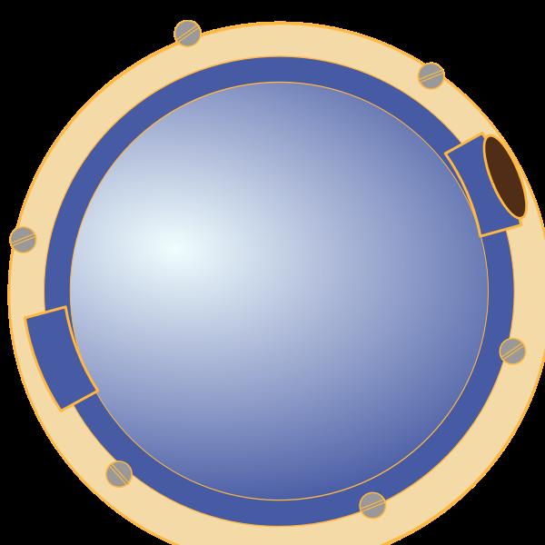 Ship port hole vector illustration
