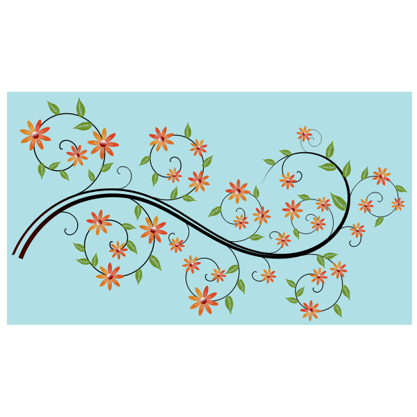 Flowery branch vector illustration