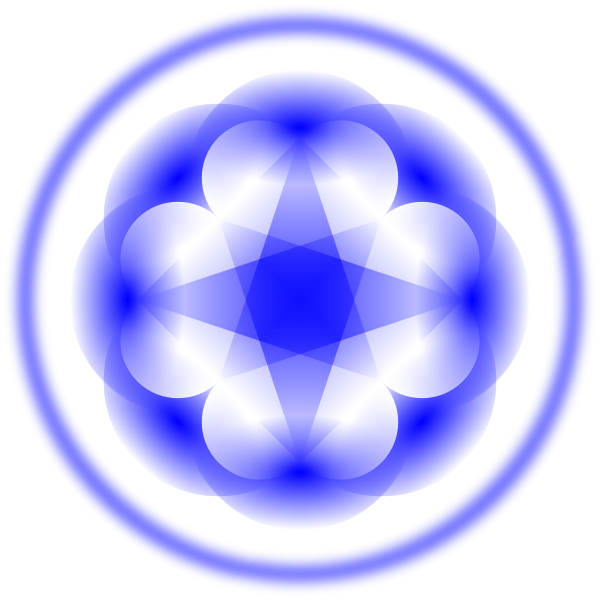 Blue decoration pattern