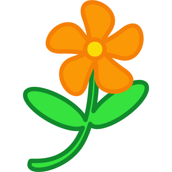 Flower cartoon drawing clip art