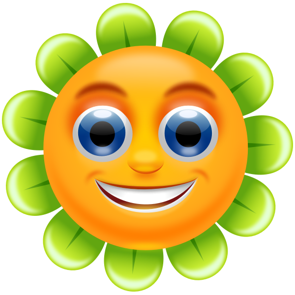 Smiling flower vector image