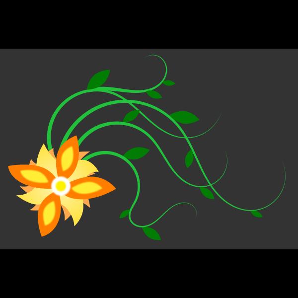 Sun flower vector graphics