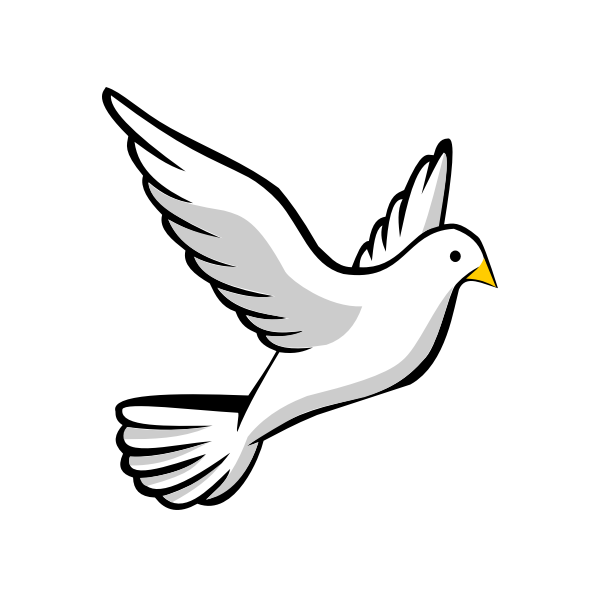 Vector image of a flying dove