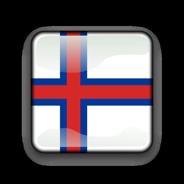 Faroe Island flag button