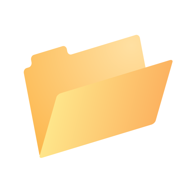 Yellow dossier icon
