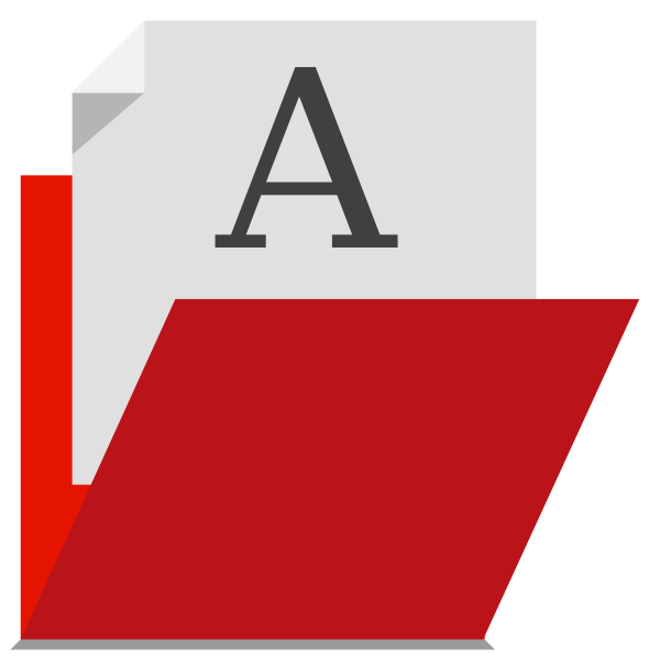 Red folder vector image