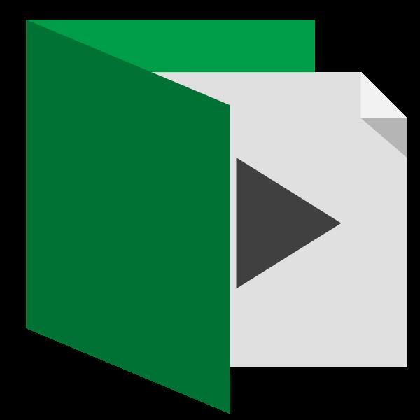 Open green folder vector image
