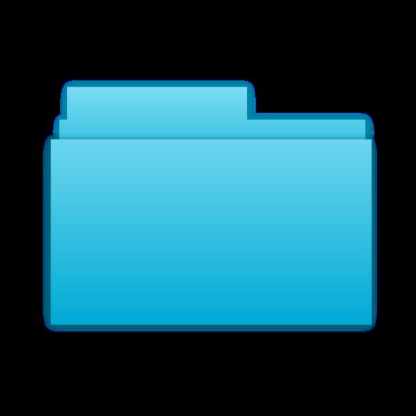 Blue folder symbol