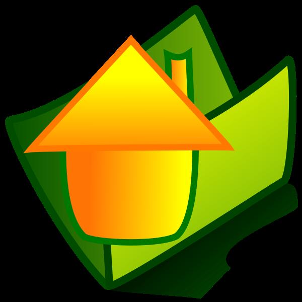 Grayscale Office folder vector illustration