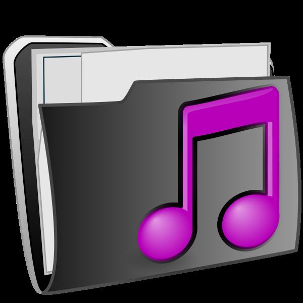CD folder vector image
