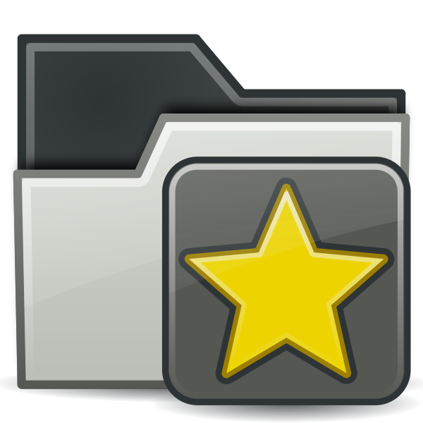 Tango folder vector clip art