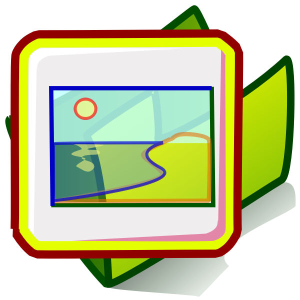 Picture folder vector image