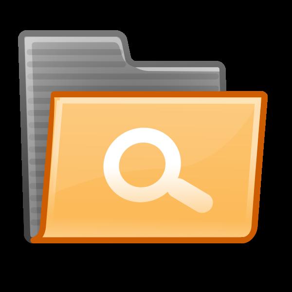 Orange folder