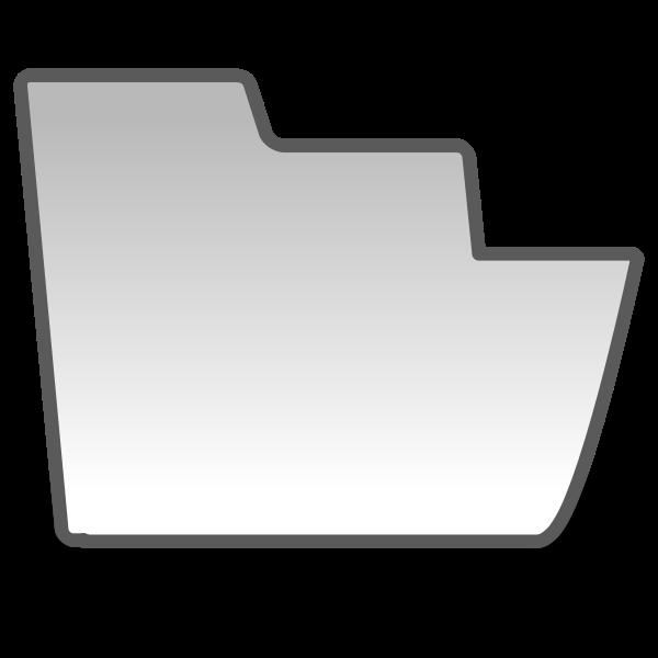 Gray folder icon