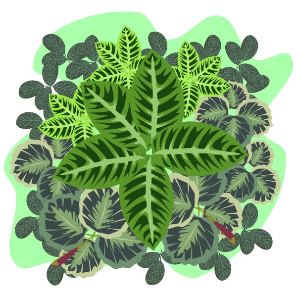 Green foliage clip art