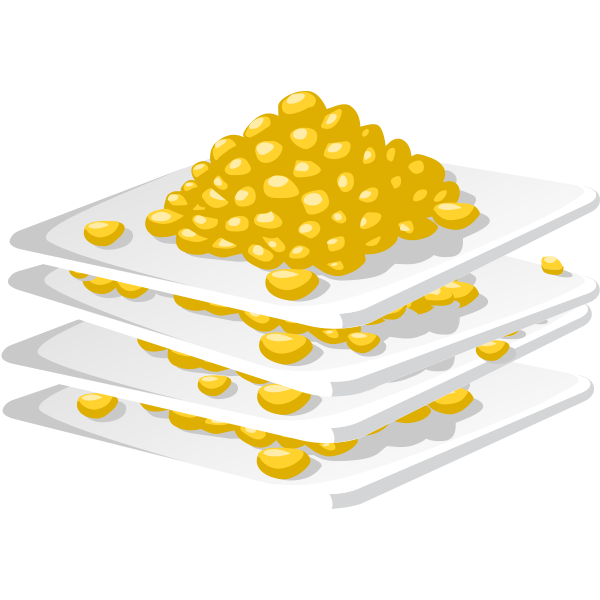 Plated corn