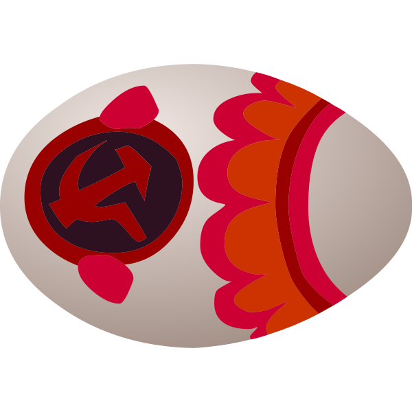 Soviet egg sign vector image