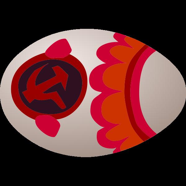 Soviet egg sign vector image