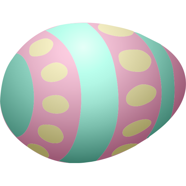 Pink and blue egg
