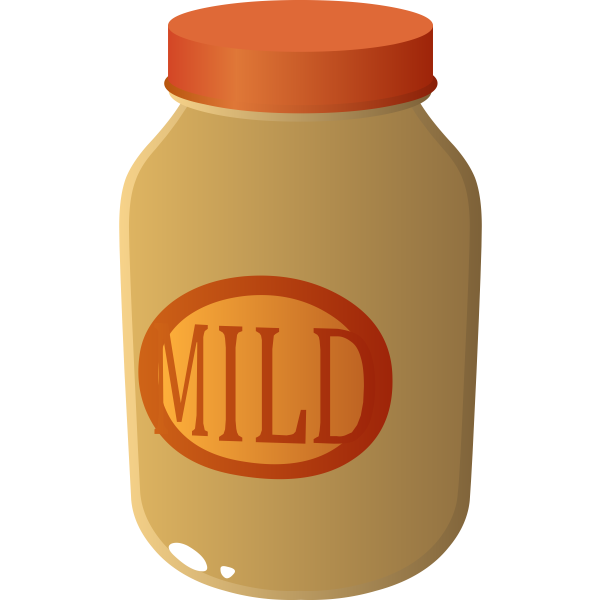 Jar of mild sauce