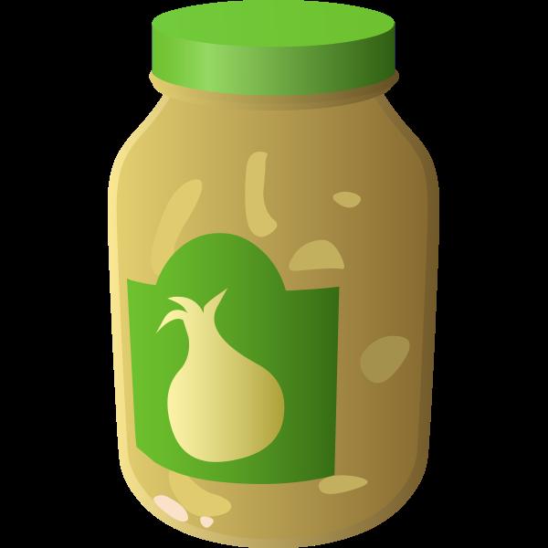 Jar of onion sauce