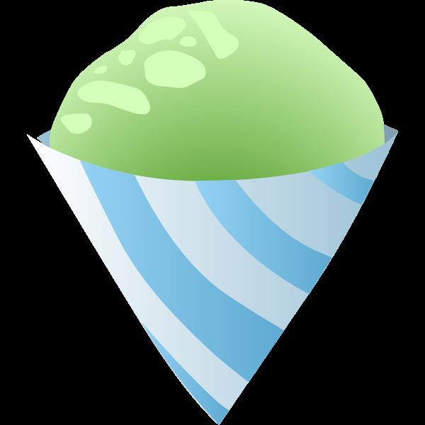 food sno cone green