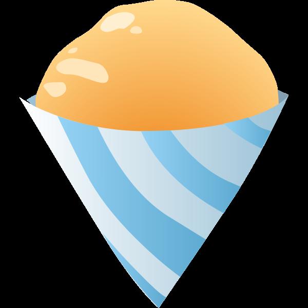 food sno cone orange