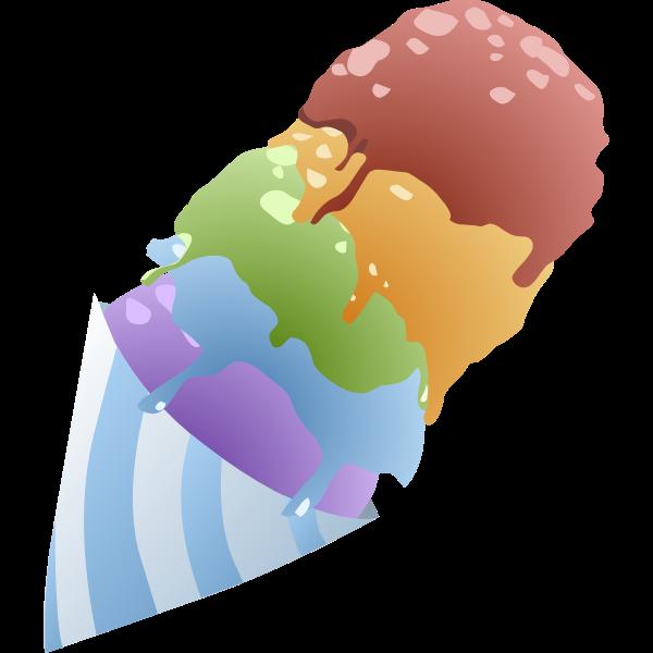 food sno cone rainbow