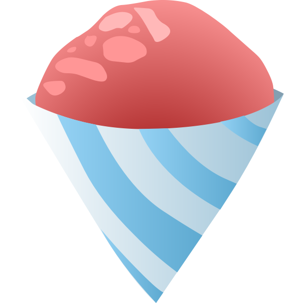 food sno cone red