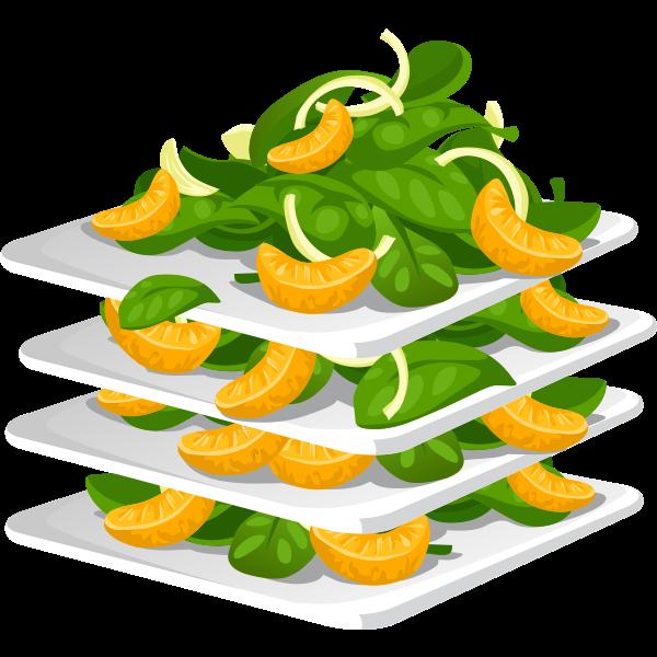 food spinach salad