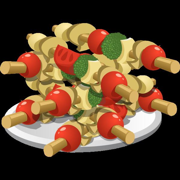 food super veggie kebabs