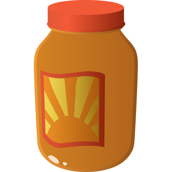 Vector image of sauce in a jar