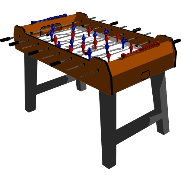 Vector drawing of football table