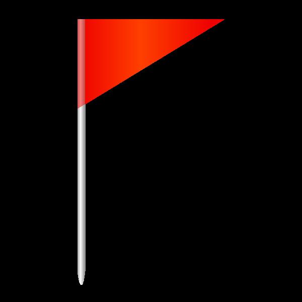 Corner Flag Vector Image