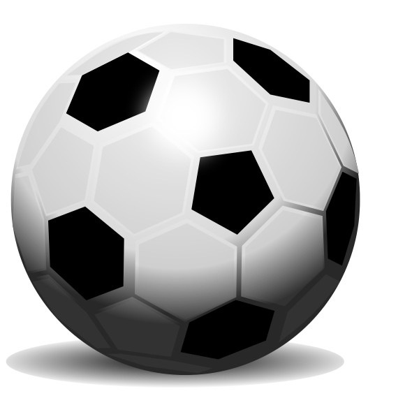 Vector drawing of soccer ball