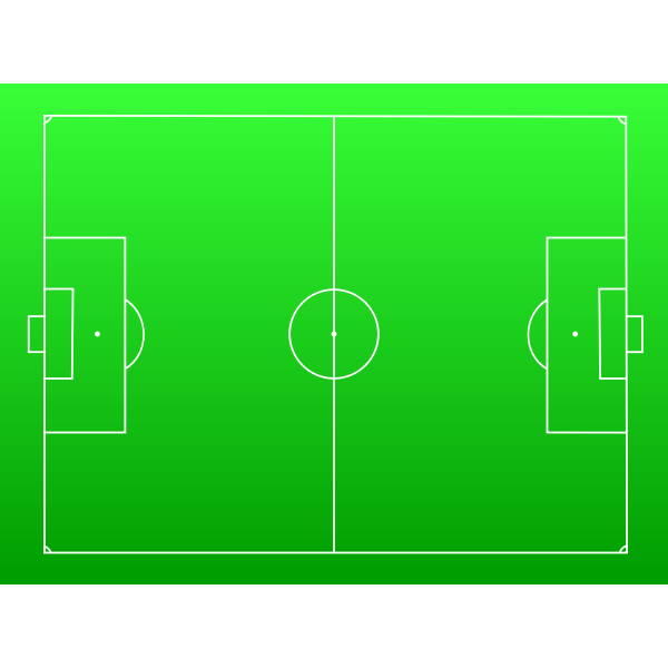 Football pitch vector image
