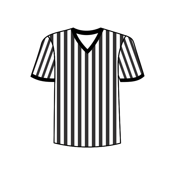 Football referee shirt vector image