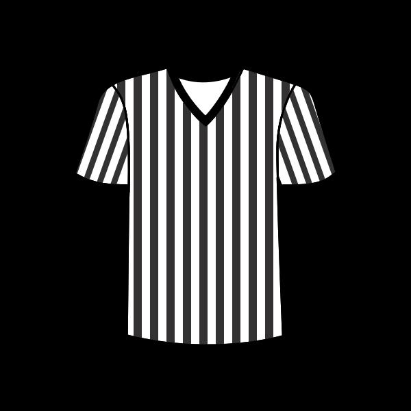 Football referee shirt vector image