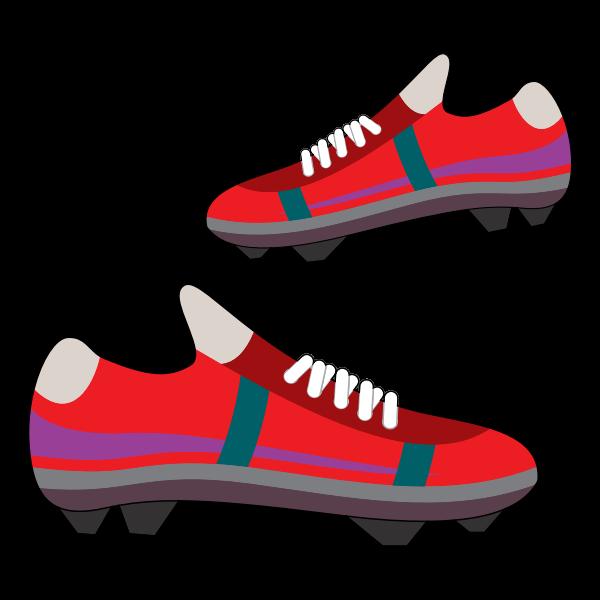 Soccer equipment vector graphics
