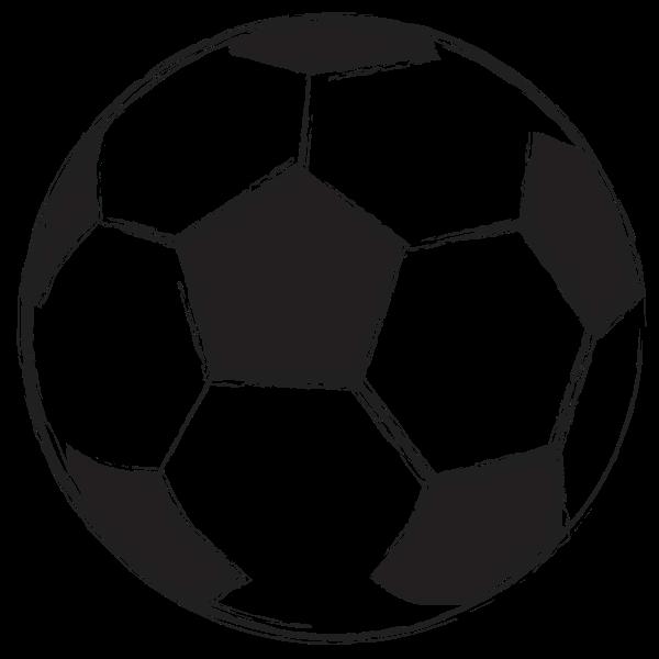 Football ball sketch vector illustration