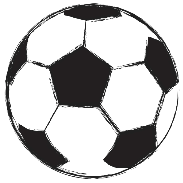 Football ball sketch vector illustration