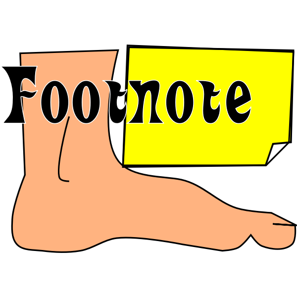 Footnote symbol