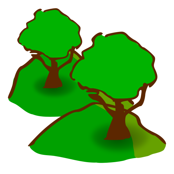 Forested hills