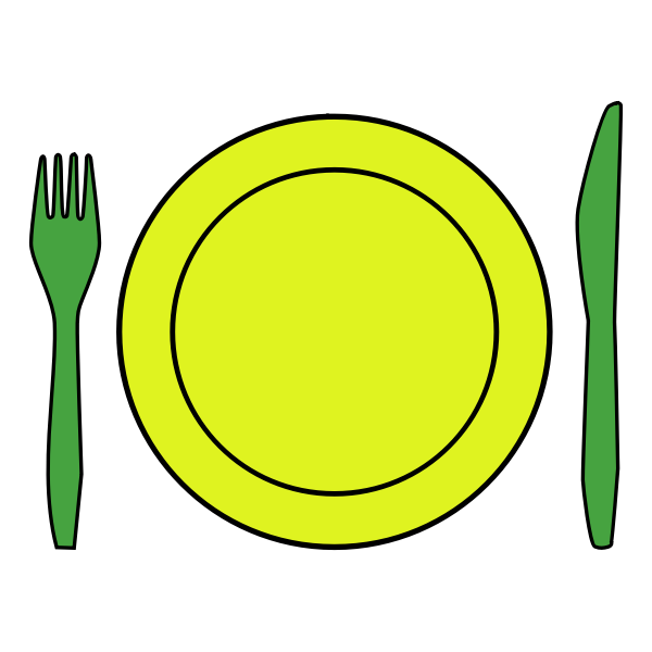 Vector clip art of plastic cutlery
