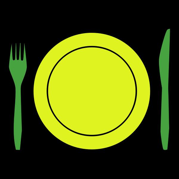 Vector clip art of plastic cutlery