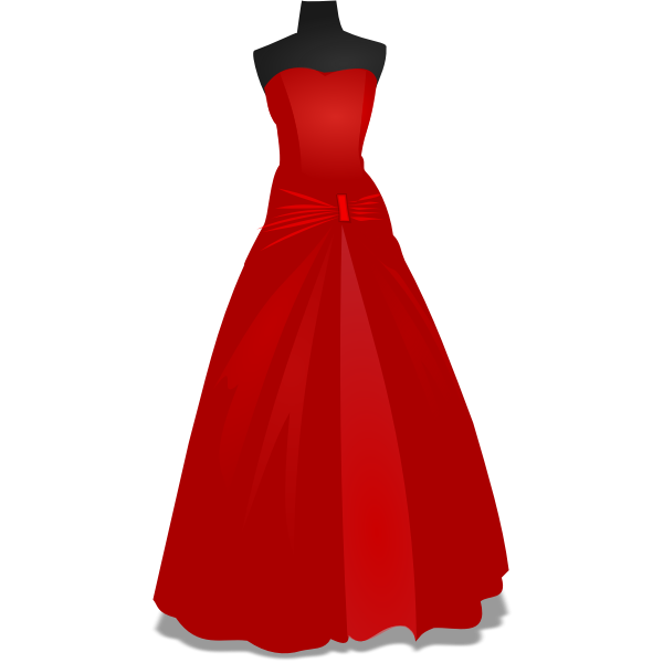 Mannequin with red dress