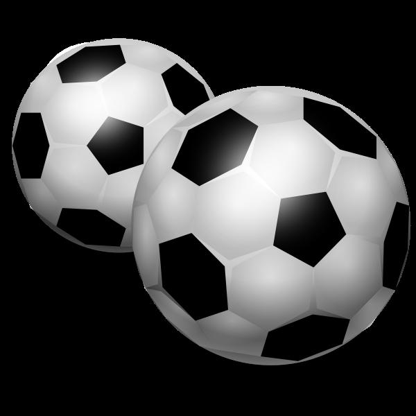 Vector clip art of soccer balls