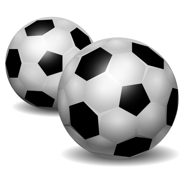 Vector clip art of soccer balls